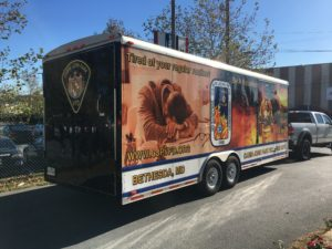 Having your mobile truck or trailer professionally wrapped is a great way to create a professional appearance that's constant and great for advertising.